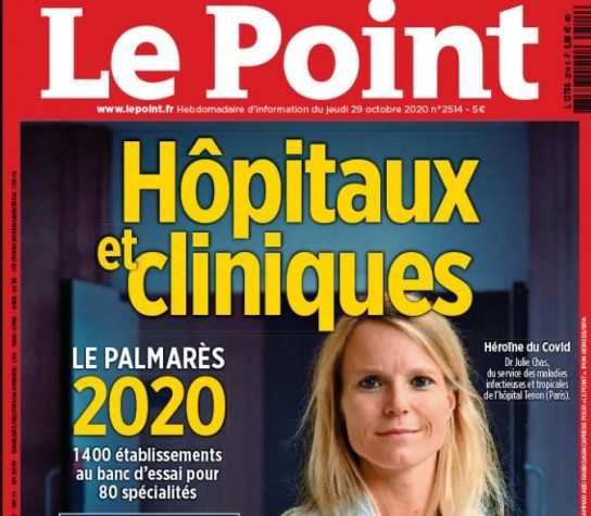 EDITION 2020 DU CLASSEMENT DES HOPITAUX ET CLINIQUES PAR LE MAGAZINE « LE POINT »